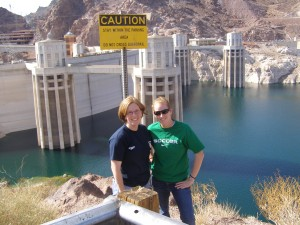 Snapper and me at Hoover Dam