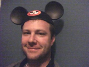 Chris with Mickey Ears