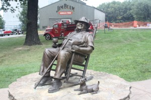 Statue of Brooker Noe at Jim Beam