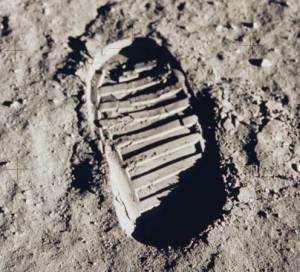 Neil Armstrong's Footprint (Apollo 11, 1969)