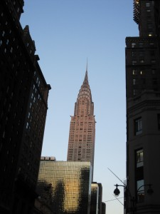 """shine like the top of the Chrysler Building"""
